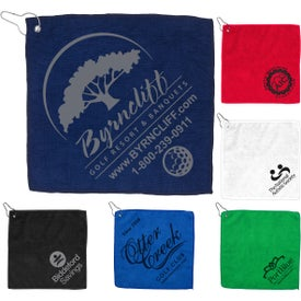 Microfiber Golf Towel with Metal Grommet and Clip
