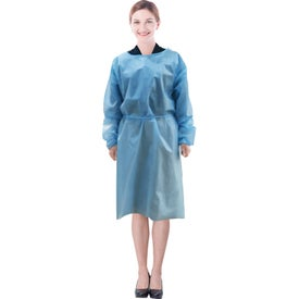 Blue Disposable Isolation Gowns