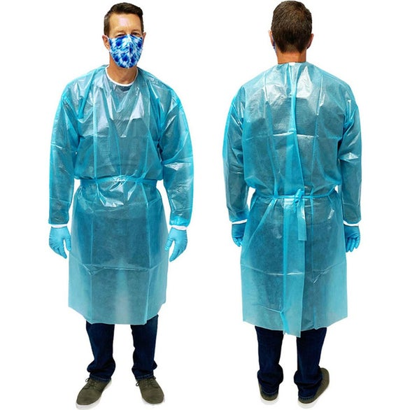 Blue Disposable Protective Gown