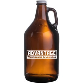 Amber Growler (64 Oz., Brown)