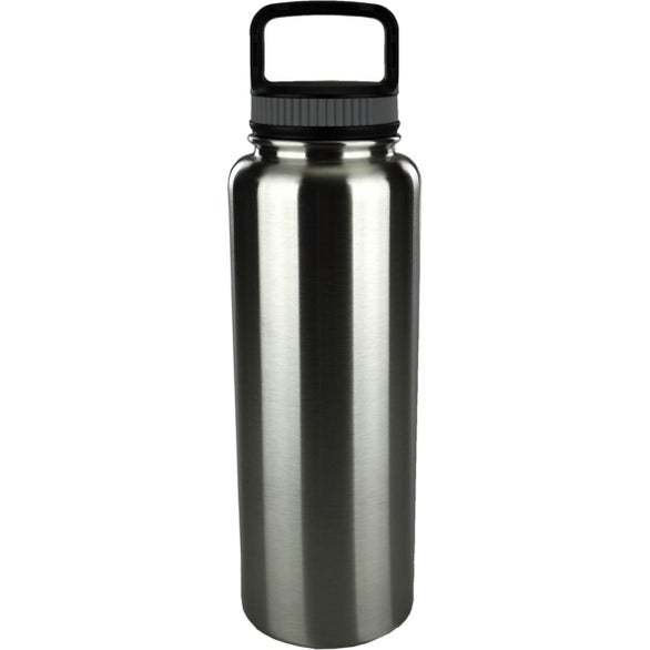 Silver Brushed Stainless Steel Double Wall Growler Bottle