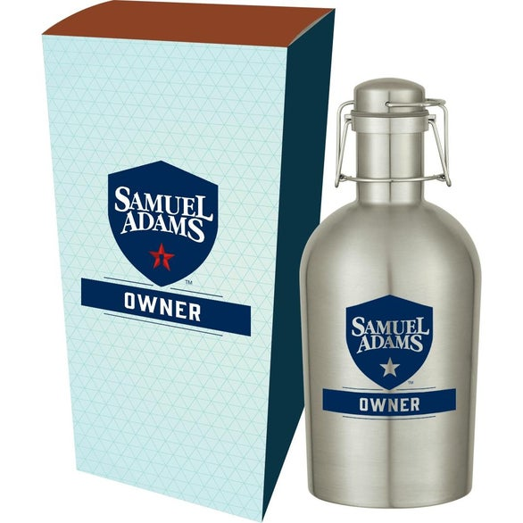 Silver Growler with Custom Box