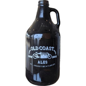 Large Glass Growlers (64 Oz., Amber)
