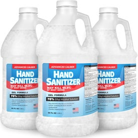 70% Alcohol Advanced Caliber Hand Sanitizer Gels (64 Oz.)