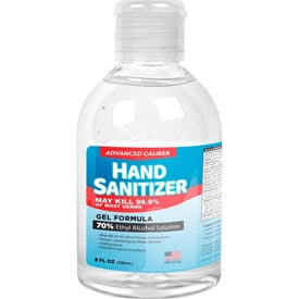 70% Alcohol Gel Hand Sanitizer Bottles (8 Oz.)
