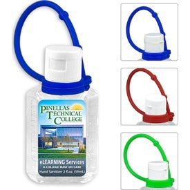 Gel Hand Sanitizer with Colorful Carry Leash (2 Oz., Full Color Decal)
