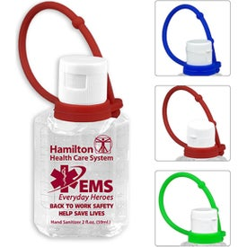 Gel Hand Sanitizer with Colorful Carry Leash (2 Oz., Pad Print)