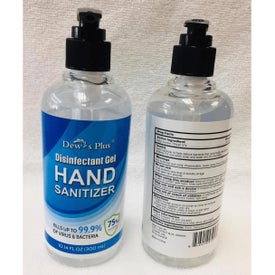 Hand Sanitizer Gel with Pump (10.14 Oz.)