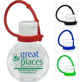 Hand Sanitizer Gel with Silicone Leash (1 Oz.)