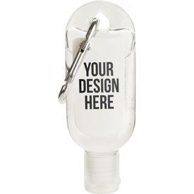 Hand Sanitizer Gels with Carabiner (1 Oz.)