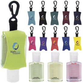 Hand Sanitizer with Leash (0.5 Oz., Scented)