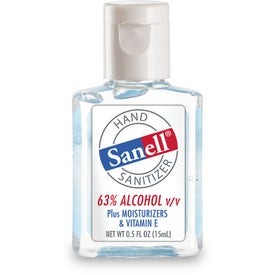Hand Sanitizer with Sanell Label (0.5 Oz.)