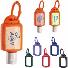 Scented Hand Sanitizer with Silicone Leash (0.5 Oz.)