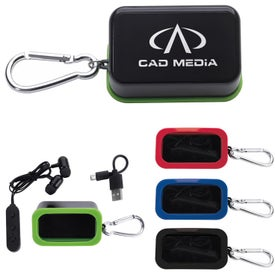 Bluetooth Earbuds in Carabiner Case