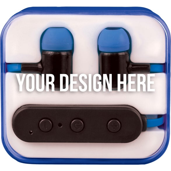 Royal Blue / Clear Color Pop Bluetooth Earbuds
