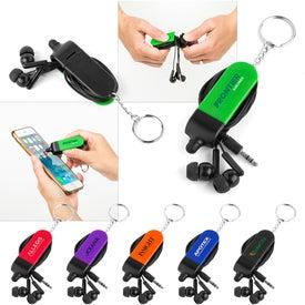 Earbud Stylus Keychain