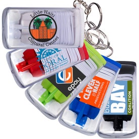 Earbuds in Case with Key Ring