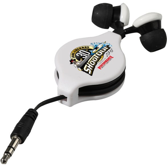 White / Black Essential Extension Earbuds