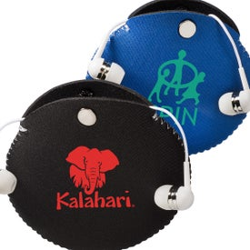 Neoprene Earbud Pouch with Earbuds