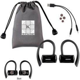 Sporty Wireless Earbuds With Pouch
