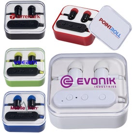 Wireless Bluetooth Earbuds in Case (55 mAh)
