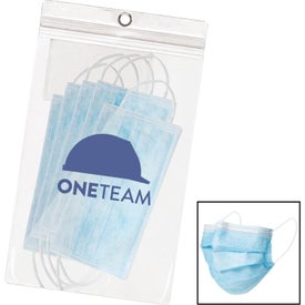 5 Pack Disposable Surgical Face Mask (10.75