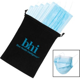 "5 Pack Disposable Surgical Face Mask (8"" x 5.5"")"