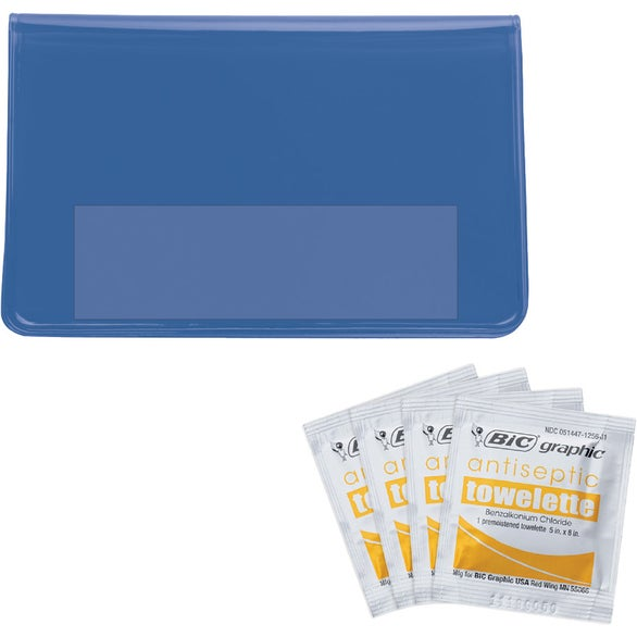 Translucent Blue Antiseptic Towelette Kit