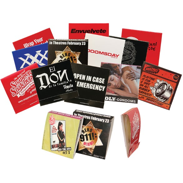 Full Color Imprint Condom Matchbook with 4 color process printing