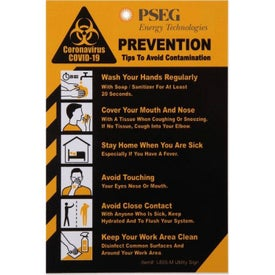 "COVID-19 Coronavirus Prevention Hard Styrene Utility Sign (4"" x 6"" x 0.06"")"