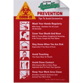 COVID-19 Coronavirus Prevention Vinyl Sticker Warning Sign