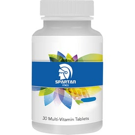 Multivitamin Bottle (Full Color Logo)