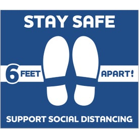 Stay Safe Floor Decals - Rectangle (14