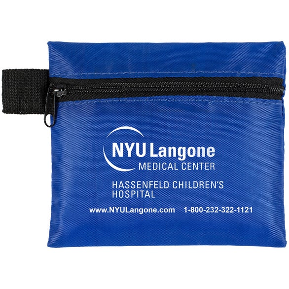 Blue Tag-A-Long 7-Piece First Aid Kit Pouch