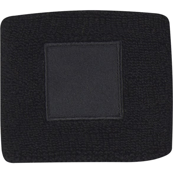 Black Wristband with Patch