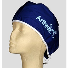 Tie-Back Broadcloth Scrub Caps (Colors)