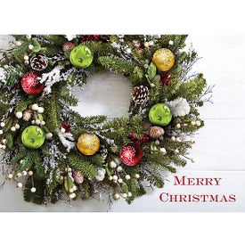 Christmas Wreath Holiday Greeting Card