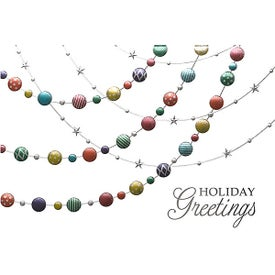 Colored Ornaments Holiday Greeting Card