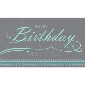 Geo Border Birthday Card