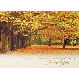 Autumn in the Park Holiday Greeting Card