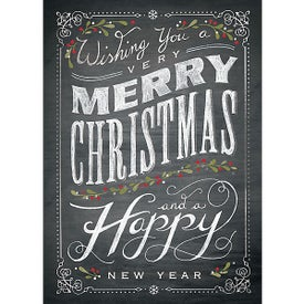 Chalkboard Christmas Holiday Greeting Card