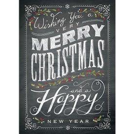 Chalkboard Christmas Holiday Greeting Card