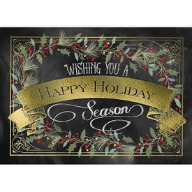 Happy Holiday Garland Greeting Card