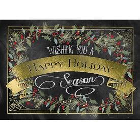 Greeting Card (Happy Holiday Garland)