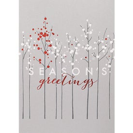 One Tree of Red Holiday Greeting Card