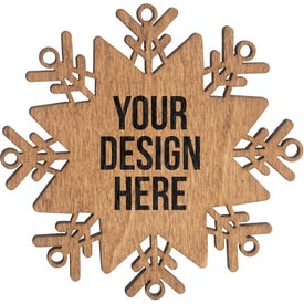 Holiday Snowflake Wood Ornament