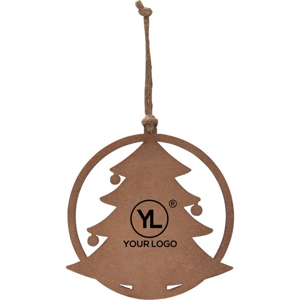 Wood Holiday Tree Wood Ornament
