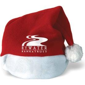 Plush Santa Hat with White Felt Trim