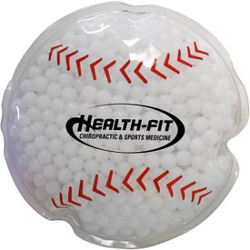Baseball Gel Bead Hot Cold Pack (Ink Imprint)