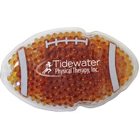 Football Gel Bead Hot Cold Pack (Ink Imprint)